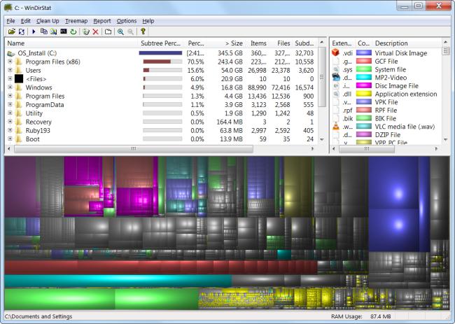 Analyze Disk Space